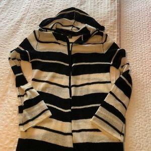Boho style long light knit sweater.